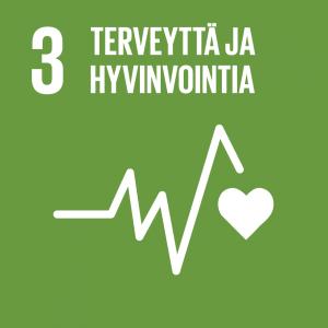 Kestävän kehityksen tavoitteet: 3 terveyttä ja hyvinvointia.