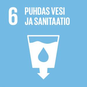 Kestävän kehityksen tavoitteet: 6 puhdas vesi ja sanitaatio.