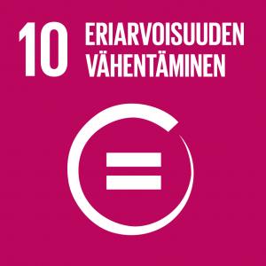 Kestävän kehityksen tavoitteet: 10 eriarvoisuuden vähentäminen.