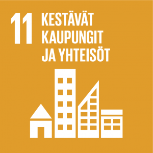 Kestävän kehityksen tavoitteet: kestävät kaupungit ja yhteisöt.